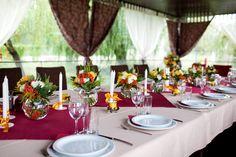 Wedding flowers – tables set for wedding #Wedding #Designs