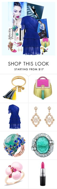 """Rankin Blue"" by bklou ❤ liked on Polyvore featuring Chloé, The Volon, Emanuel Ungaro, Sara Weinstock, Pomellato and MAC Cosmetics"