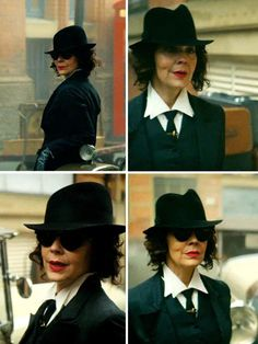Polly Gray in Peaky Blinders 💙 Grey Fashion, 70s Fashion, Vintage Fashion, 1920s Outfits, Vintage Outfits, Aunt Polly Peaky Blinders, Traje Peaky Blinders, Joe Cole, Cillian Murphy Peaky Blinders