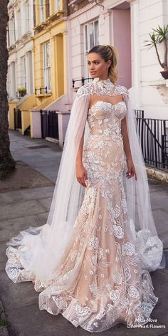 The Best Milla Nova Wedding Dresses 2019 ★ milla nova wedding dresses 2019 mer. The Best Milla Nova Wedding Dresses 2019 ★ milla nova wedding dresses 2019 mermaid sweetheart lace blush with cape ★ See more: weddingdressesgui. Custom Wedding Dress, Wedding Dress Trends, Best Wedding Dresses, Designer Wedding Dresses, Bridal Dresses, Wedding Gowns, Lace Wedding, Wedding Dress Cape, Bridal Lace