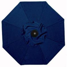 Galtech 7.5-ft. Deluxe Auto Tilt Patio Umbrella Sunbrella Navy Blue / Grade B - BH727BK-58