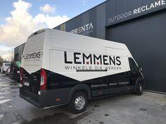 Commercial Vehicle Signage, Van signwriting, van signage for Lemmens - gloss black vinyl