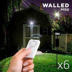 Exterior y acampadas : Focos LED de pared Mini con Mando