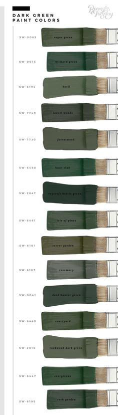 My Favorite Green Paint Colors - Room for Tuesday In honor of St. Patrick's Day this weekend, I'm sharing my favorite green paint colors. Whether you're painting a wall or furniture, save these swatches! Green Paint Colors, Green Room Colors, Decoration Bedroom, Wall Decor, Green Decoration, House Painting, Painting Walls, Diy Painting, Painting Canvas