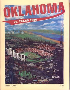 1986 Texas Longhorns vs OU Sooners Football Program
