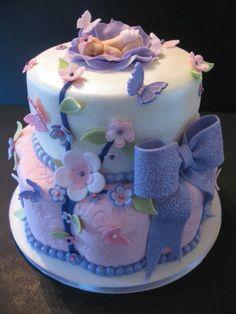 Sugar Plum Baby Shower Cake & Cupcakes