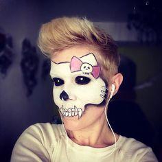 Halloween MakeUp, Hello Kitty