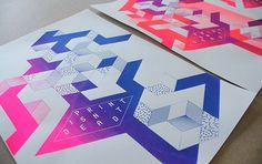 Print isn't dead // screen print by Lilly Marfy, via Behance