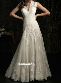 Lace Wedding Dresses Straps Wedding Dress Sexy Lace by lanmeiren, $328.00