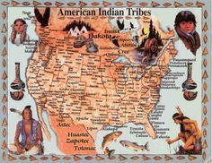 American Indian Tribes. Used this map a lot when I was doing out heritage search. CTH