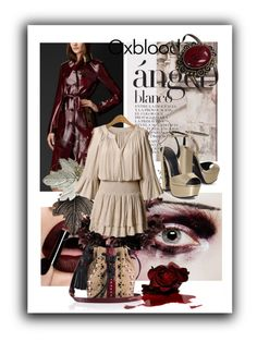 """Oxblood"" by kari-c ❤ liked on Polyvore featuring Burberry, KG Kurt Geiger, Tamara Mellon and oxblood"