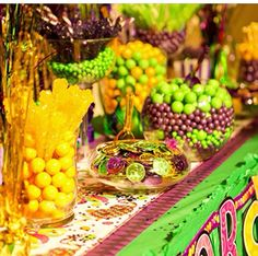 Mardi Gras party candy table
