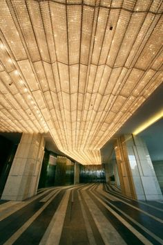 Beautiful Gold & Light - Amazing Ceiling Design and Depth #Architecture #Photography #Design