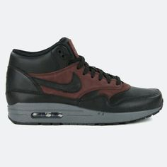 NIKE AIR MAX 1 MID DELUXE QS BLACK / BARKROOT BROWN