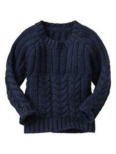 Cable crewneck sweater | Gap