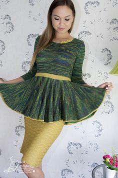 Купить Костюм - зеленый, костюм, Костюм вязаный, вязание на заказ, мастер анна горбунова