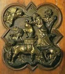 Brunelleschi, Sacrificio di Isacco, 1401, Bronzo, Museo del Bargello Firenze