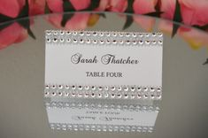Rhinestone place cards SET OF 25 Bling tent cards place cards by KimeeKouture   Etsy