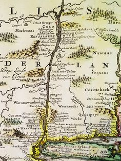 Native American place-names in New Netherlands (New York) circa 1630