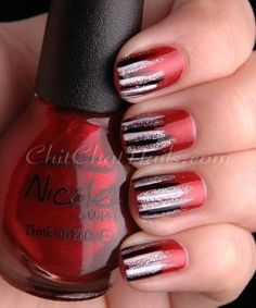 ChitChatNails » Blog Archive » Striped tips by elizabeth