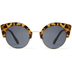 Cheap Monday Expo Shades ($30) ❤ liked on Polyvore featuring accessories, eyewear, sunglasses, glasses, acc, tortoise cat eye sunglasses, tortoiseshell sunglasses, cat eye sunglasses, tortoiseshell cat eye glasses and tortoise shell glasses