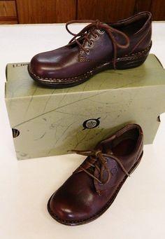Born Delgado Leather Oxford Shoes 6.5/37 M Brown Classic Comfy Cute Fun Jeans #Born #Oxfords #Casual