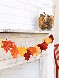 Free leaf templates for this DIY fall garland