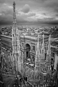 View from the Duomo di Milano (cathedral in Milan, Italy) of the Galleria Vittorio Emanuele II shopping arcade. This is a gorgeous area of Milan! Beautiful World, Beautiful Places, Beautiful Buildings, Amazing Places, Places To Travel, Places To See, Milan Cathedral, Jolie Photo, Travel Memories