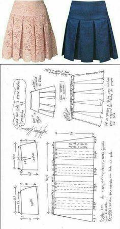 Saia com pregas macho fácil de fazer | DIY - molde, corte e costura - Marlene Mukai
