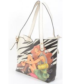 Multi Colored Graphic Printed Bag