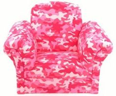Kids Chairs Pink Camouflage