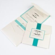 Mardi Gras Handmade Wedding Invite email sales@pocketfoldinvites.co.uk