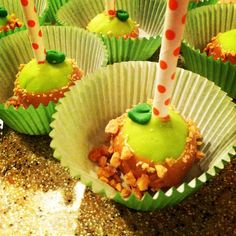 Candy Apple Cake Pops by The Dapper Dipper on Etsy