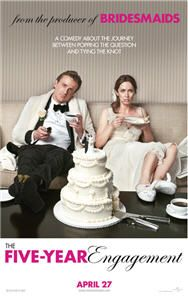 The Five-Year Engagement, starring Jason Segel and Emily Blunt, arrives in theaters on April 27, 2012