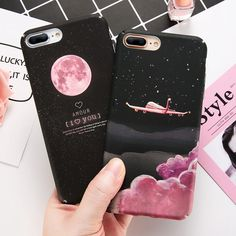 Plane Hard Back Phone Case Slim Skin Shockproof Cover For Iphone X 6 P 6S 7 Plus