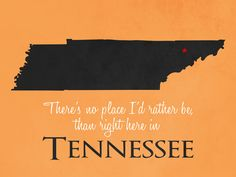 CUSTOMIZABLE TENNESSEE State Poster
