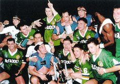 Cometh the hour, cometh the men - October 1989.  Widnes crowned as world club champions after a superb comeback vs. Canberra raiders at a packed out Old Trafford.