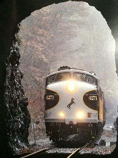 Great shot of Norfolk Southern's F Units entering a tunnel. - Tap the link to shop on our official online store! You can also join our affiliate and/or rewards programs for FREE! Train Tracks, Train Rides, Railroad Pictures, Southern Railways, Diesel Locomotive, Electric Locomotive, Norfolk Southern, Old Trains, Train Pictures