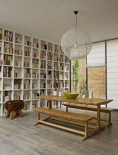 Bookshelf wall for the avid reader