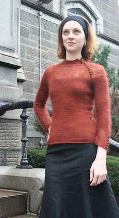 Ravelry: Veronique's Transparency in Shibui Silk Cloud.