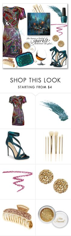 """""""Leaves a little sparkle"""" by kimzarad1 ❤ liked on Polyvore featuring Naeem Khan, LYDC, Imagine by Vince Camuto, WALL, Sephora Collection, NARS Cosmetics, Trina Turk and Too Faced Cosmetics"""