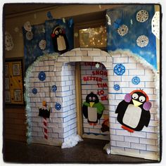 Winter wonderland classroom door. Definitely appropriate this week!