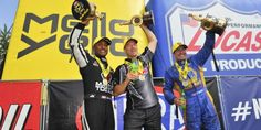 Antron Brown, Ron Capps, Greg Anderson Win Rain-Delayed New England Nationals