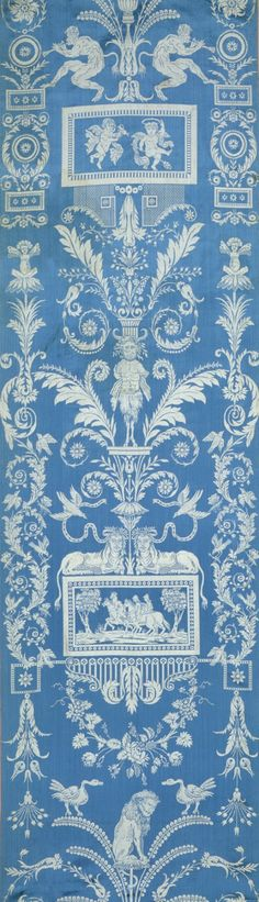 Wall Panel or Upholstery, silk, compound weave (lampas), France, ca. 1830.