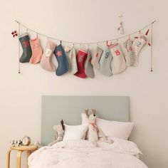 christmas stocking / sock advent calendar by little baby company | notonthehighstreet.com ok so I need 4 of these !!!……. Might have to make my own lol x x x
