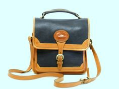 Dooney and Bourke Carrier Bag // Midnight Blue and British Tan AWL