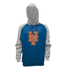 MLB New York Mets Men's Pullover Hoodie, XX-Large, Royal/Gray