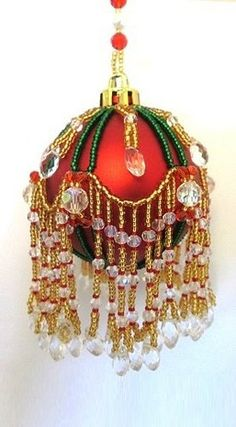 Bead PATTERN ONLY Beaded Tiffany Christmas Ornament Cover. Beaded Bundles - many inexpensive patterns! Bead Embroidery Patterns, Beaded Jewelry Patterns, Beading Patterns, Beading Jewelry, Mosaic Patterns, Art Patterns, Painting Patterns, Beading Ideas, Beading Projects