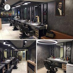 Call us to make salon decoration, 444 40 74 # hairdresser # hairdresser . Modern Barber Shop, Barber Shop Interior, Barber Shop Decor, Hair Salon Interior, Home Beauty Salon, Beauty Essentials, Barbershop Design, Salon Furniture, Retail Store Design