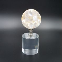 Custom Lamp Finial with a  Mother of Pearl Mosaic by TheFineFinial